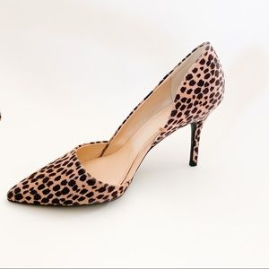 Old Navy Animal Print Sueded D'Orsay Pumps